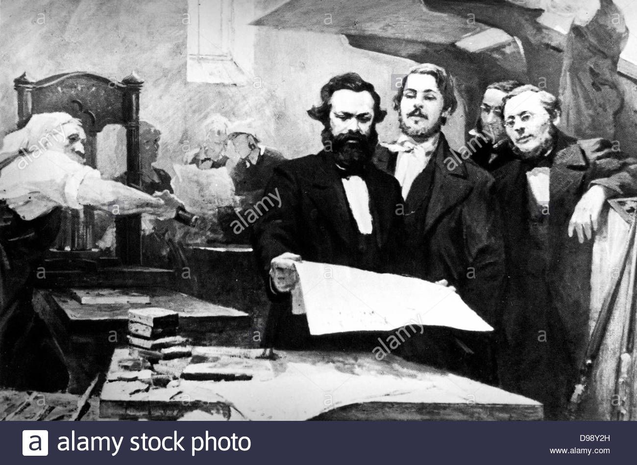 Karl Marx 1818 1883 Father Of Modern Communism German Political Social And Economic Theorist Marx Is Shown Is Shown With Stoc Karl Marx Stock Photos Photo