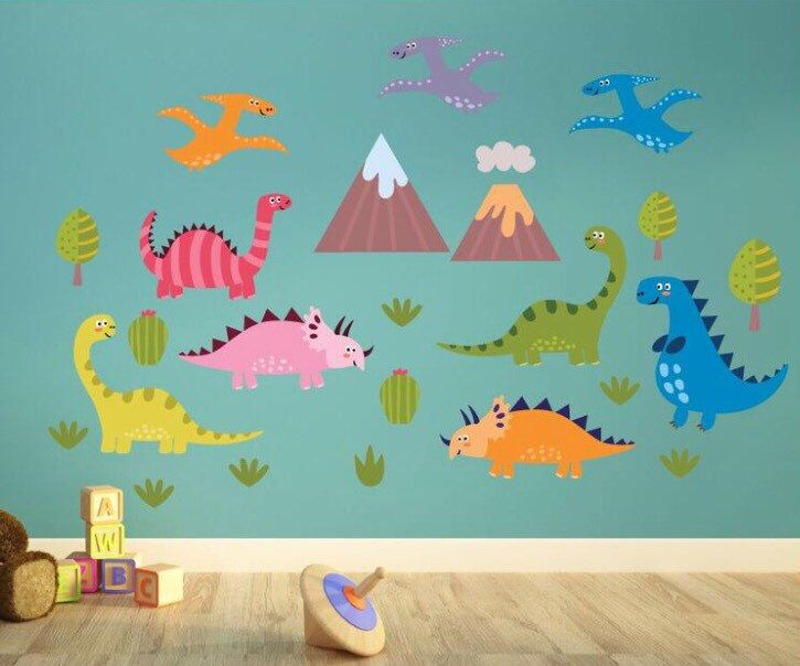 daft dinosaurs kids wall decals kids wall stickers kids wall art