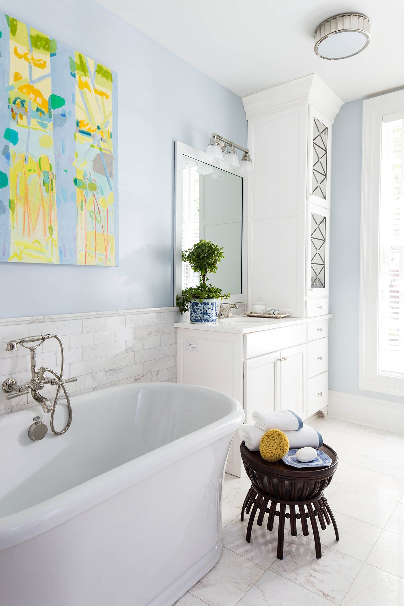 White Wellborn cabinetry in the 2015 Southern Living Idea House  master bath  cabinets are the. White Wellborn cabinetry in the 2015 Southern Living Idea House