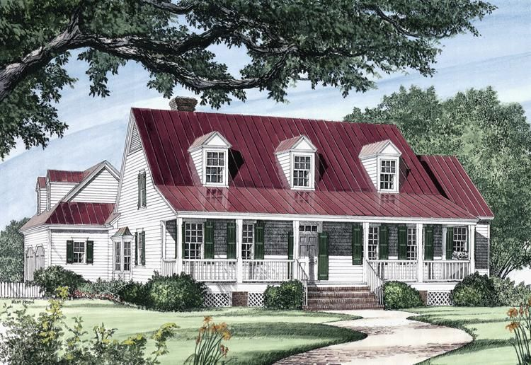 House Plan 7922 00143 Traditional Plan 2 419 Square Feet 4 Bedrooms 3 Bathrooms House Plans Farmhouse Southern House Plans Country House Plans