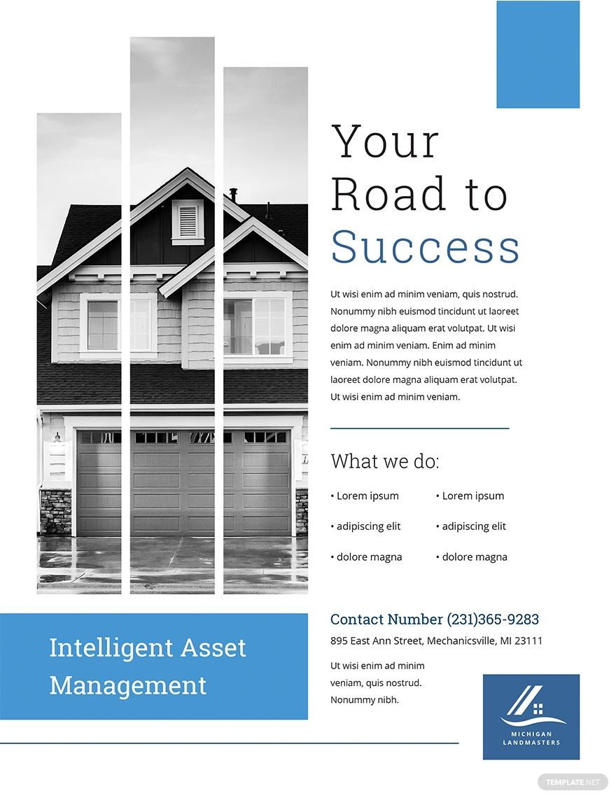 Free Property Management Flyer Template Ad Ad Property Free Management Template Property Management Flyer Template Real Estate Marketing Flyers