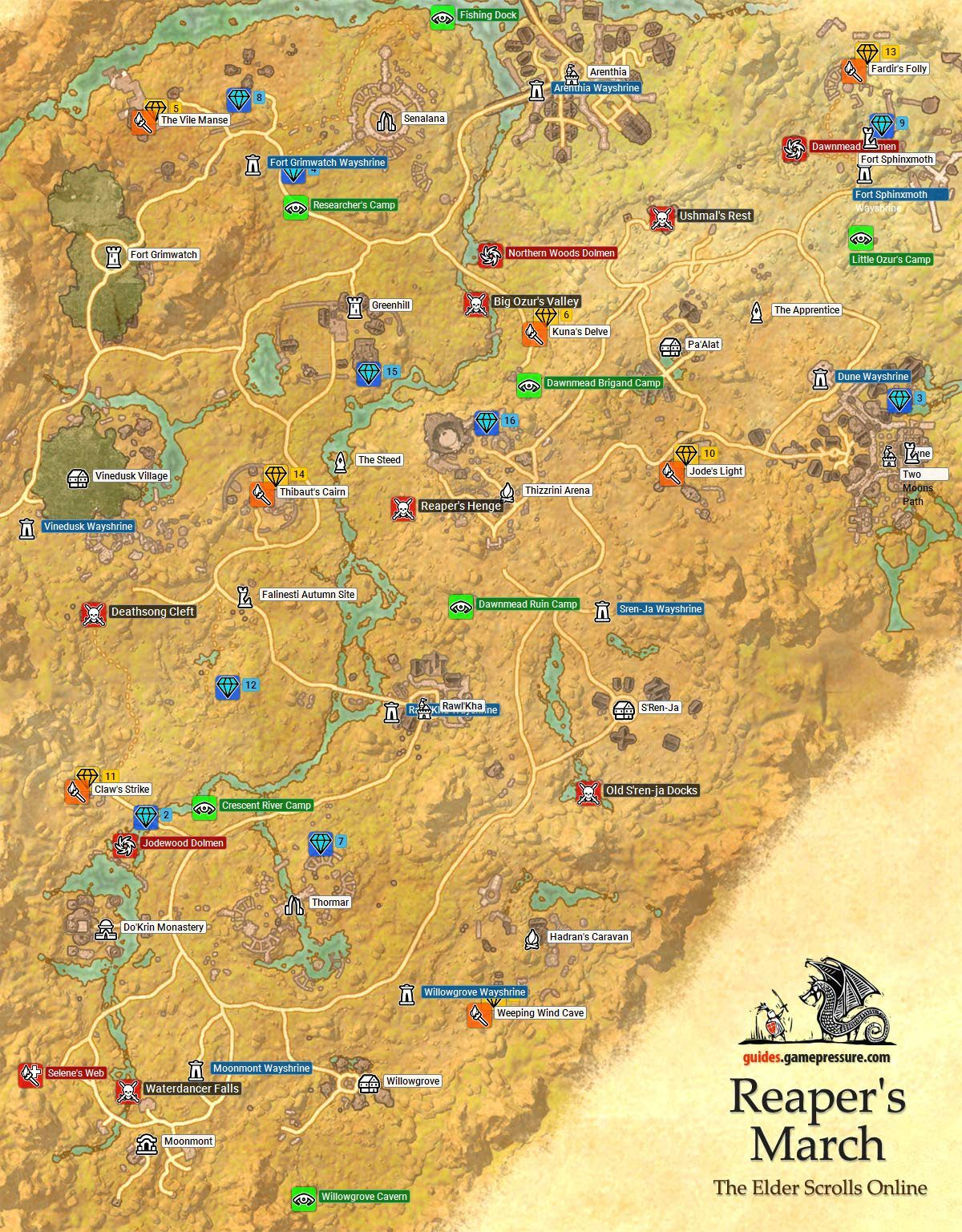 Malabal Tor Map : malabal, Elder, Scrolls, Online, Reaper's, March, Online,, Guide,