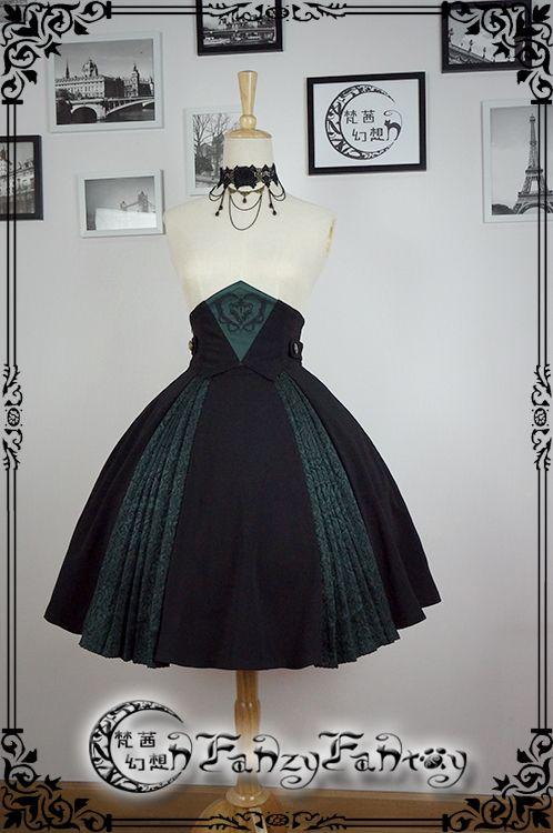 Fanzy Fantasy -Undead Princess- Elegant Gothic Lolita High Waist Skirt