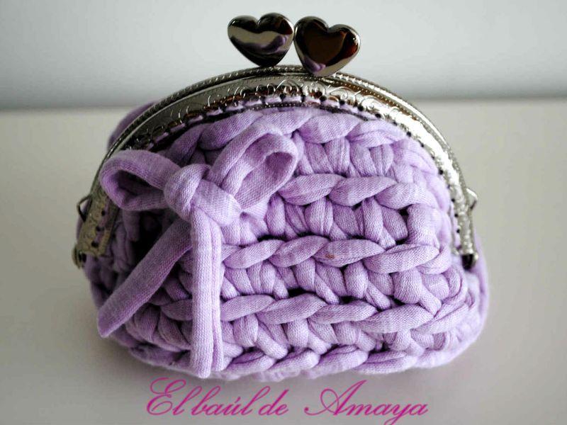 Monedero de trapillo mon petit crochet pinterest - Tejer con trapillo ...