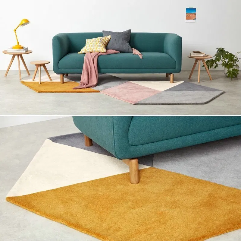 Stitching Color Area Round Rugs Warmly Home Round Rugs Rugs Living Room Decor #round #carpets #for #living #room