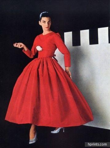Balenciaga 1955 Evening Dress Cartier Jewels