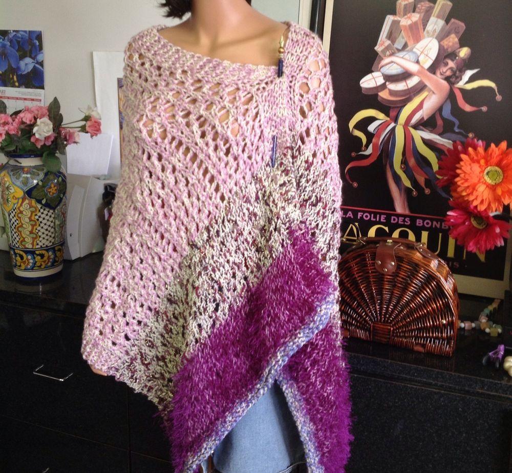 Hand Knit Handmade Big Shawl Wrap Stole Lace Designer Spring Summer Fashion  #Handmade #ShawlWrap