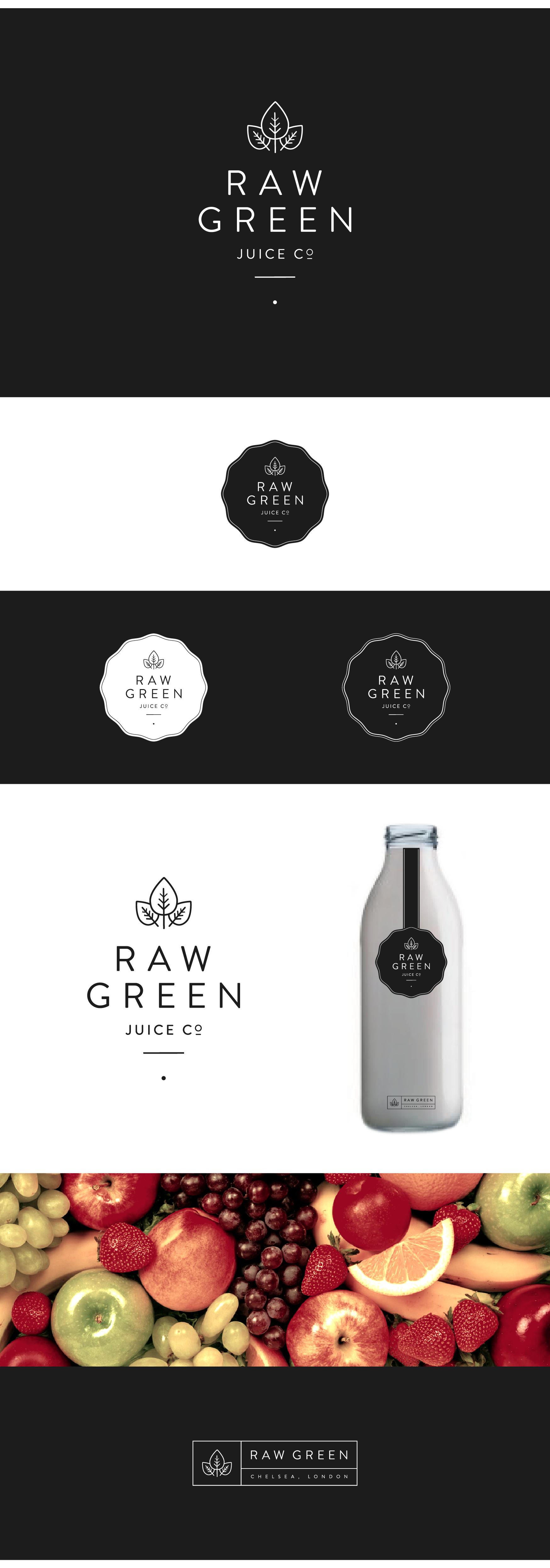 Brand for upmarket raw juice company