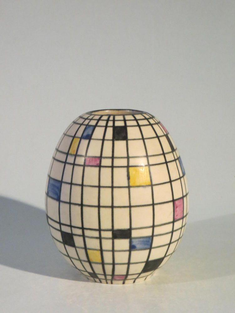 Details Zu Ruscha Keramik Vase Filigran Adele Bolz 23 Cm Top