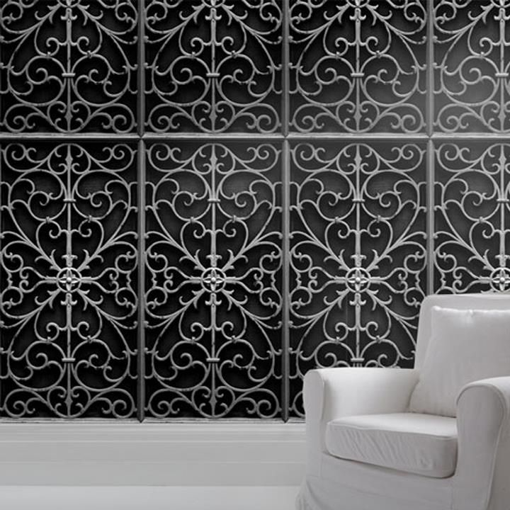 Trompe l\u0027Oeil Metal Wallpaper - Mineheart ART Pinterest