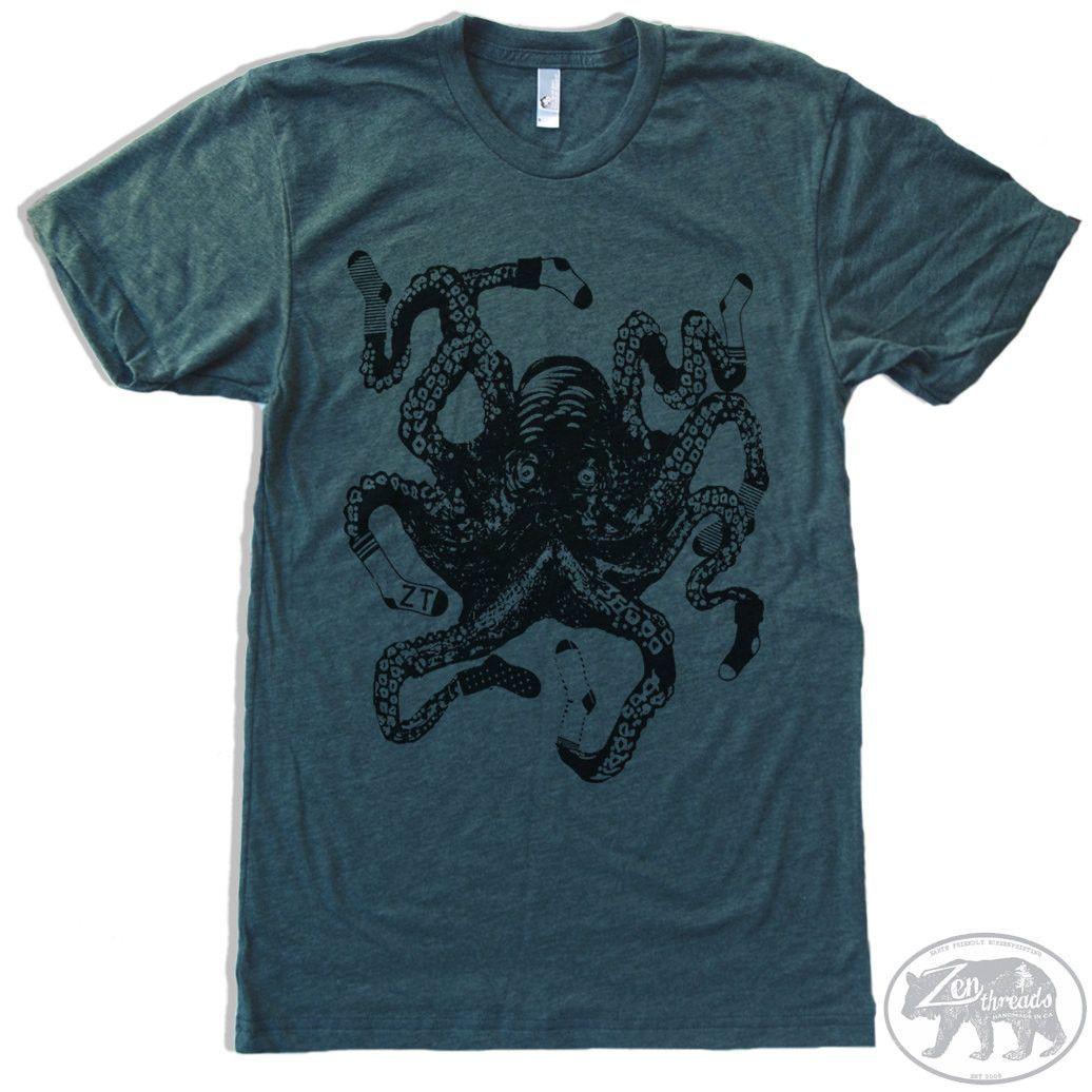 SOCKTOPUS Men's Tshirt Men short sleeve, Custom screen