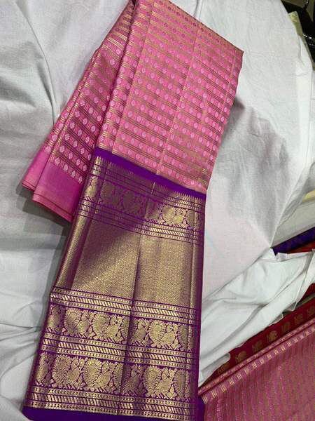 Photo of South Silk Tradotional Gown with Georgette Dupatta