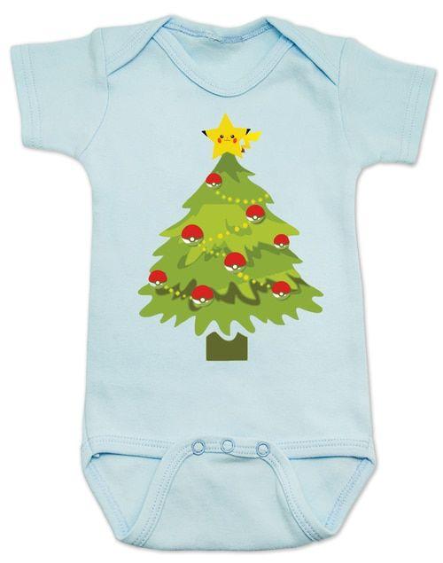 05bb952f3 pokemon christmas baby Bodysuit