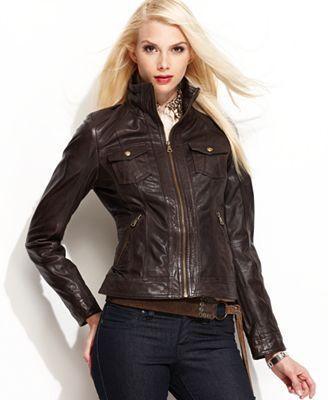 Chocolate brown womens leather jacket – Modern fashion jacket ...