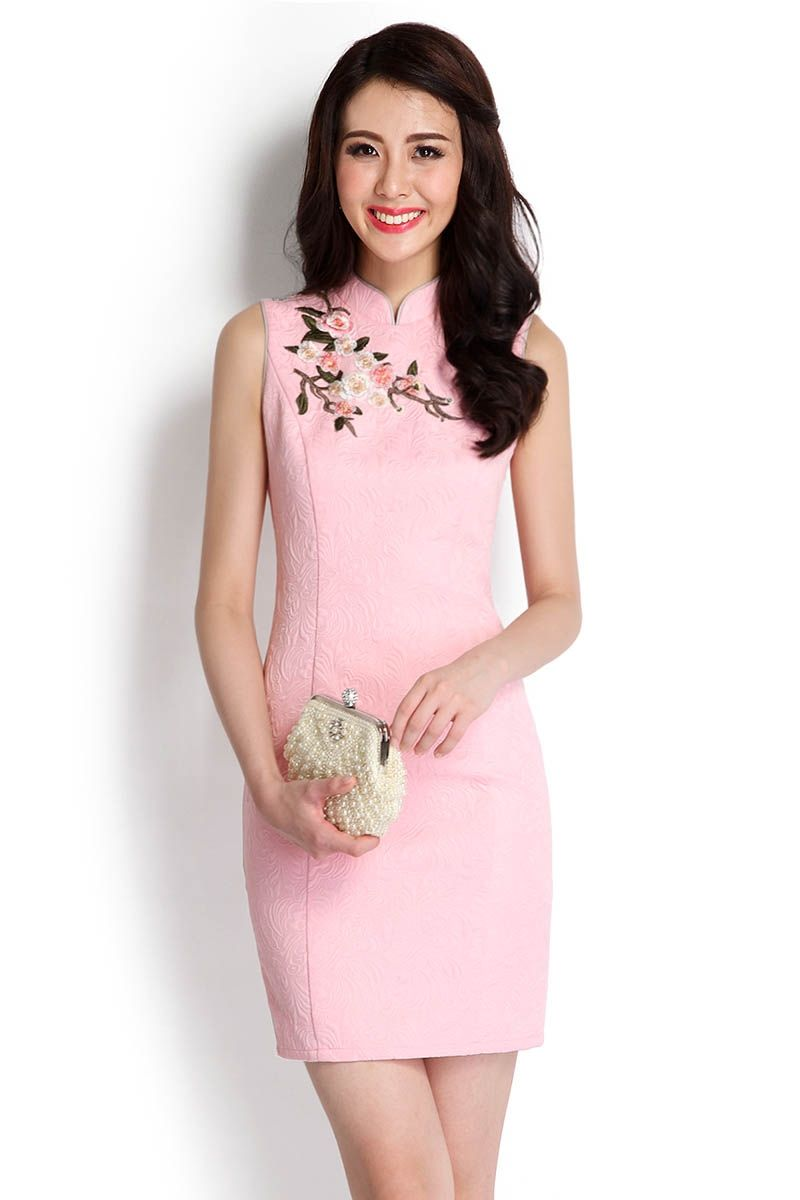 Lovely And Lush Cheongsam Dress In Pink | LilyPirates | Blusas y ...
