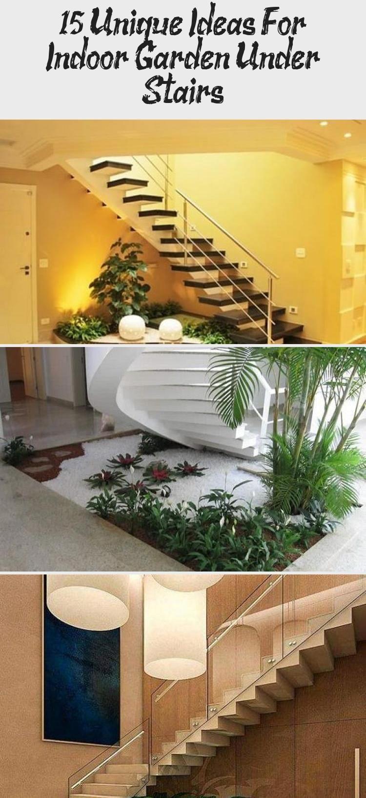 Unique Ideas Indoor Garden Under Stairs