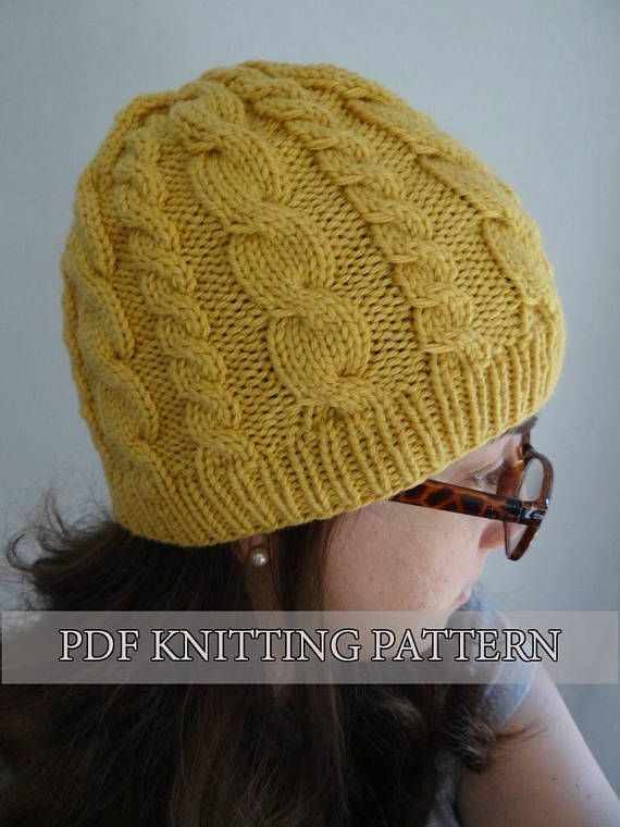 Almost FREE KNITTING pattern easy cable hat, knitted hat, knitted ...