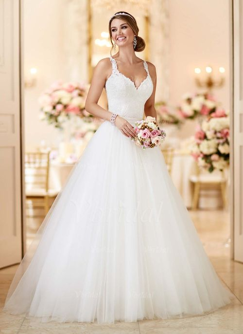 Wedding Dresses - $209.99 - Ball-Gown V-neck Court Train Tulle ...