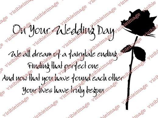 Visible Image Wedding Day Verse Stamp