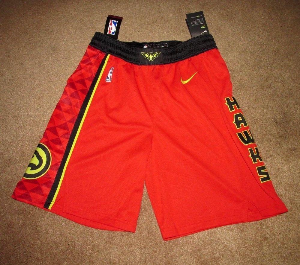 4ea5540c3ff1 Nike Atlanta Hawks NBA Icon Swingman Basketball Shorts Mens S 30 Red 879950  657  Nike  AtlantaHawks