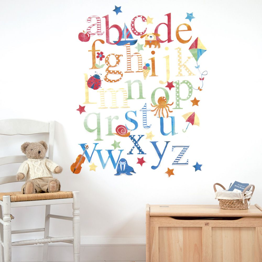 JoJo Alphabet Wall Stickers Decor Nursery JoJo Does Nurseries - Nursery wall decalswall stickers for nurseries rosenberry rooms