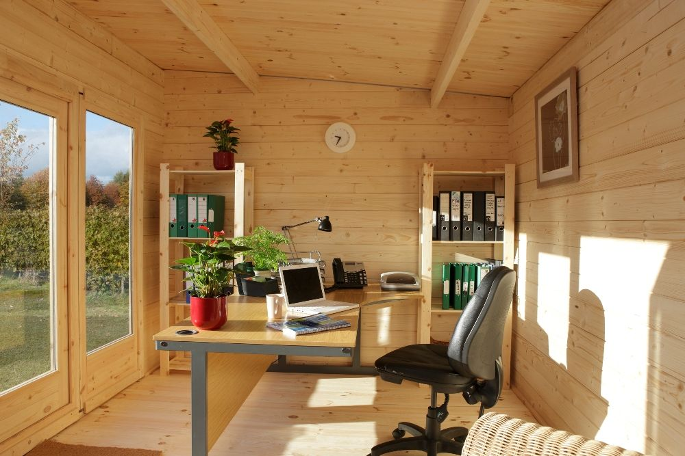 garden office interiors. Melbury Log Cabin Interior, An Inspiring Office Space Garden Interiors S