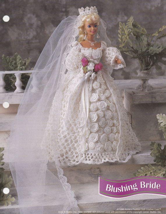 Errötende Braut, Annies Attic Mode Puppe Hochzeit Kleid häkeln ...