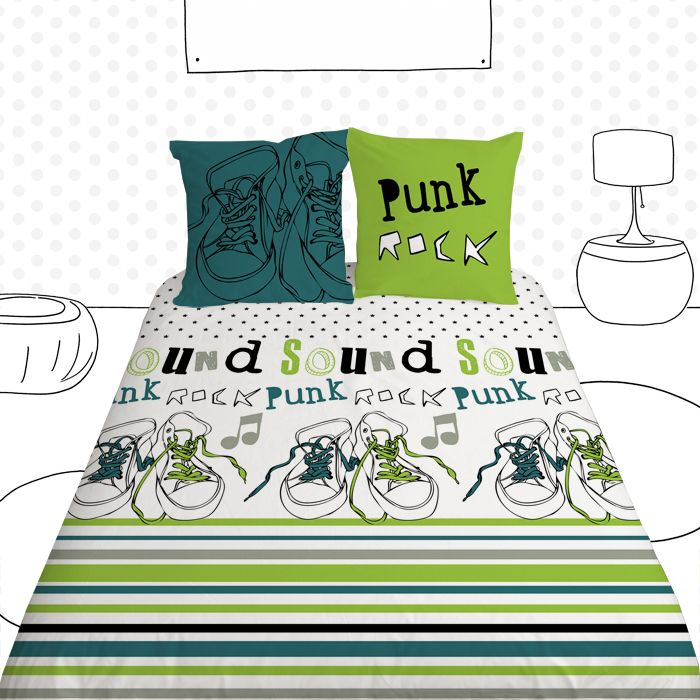 housse de couette ado basket rock basket rock quilt cover for teens collection luphique pour. Black Bedroom Furniture Sets. Home Design Ideas
