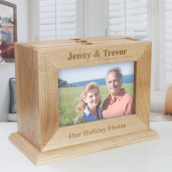 Personalised Wooden Photo Frame Box With Pull Out Albums The Gift