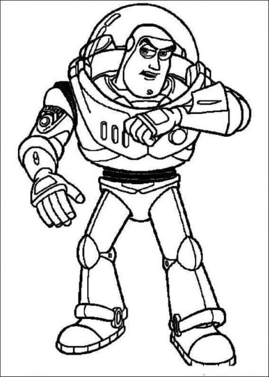 Buzz Lightyear Standby Toy Story Coloring Pages Toy