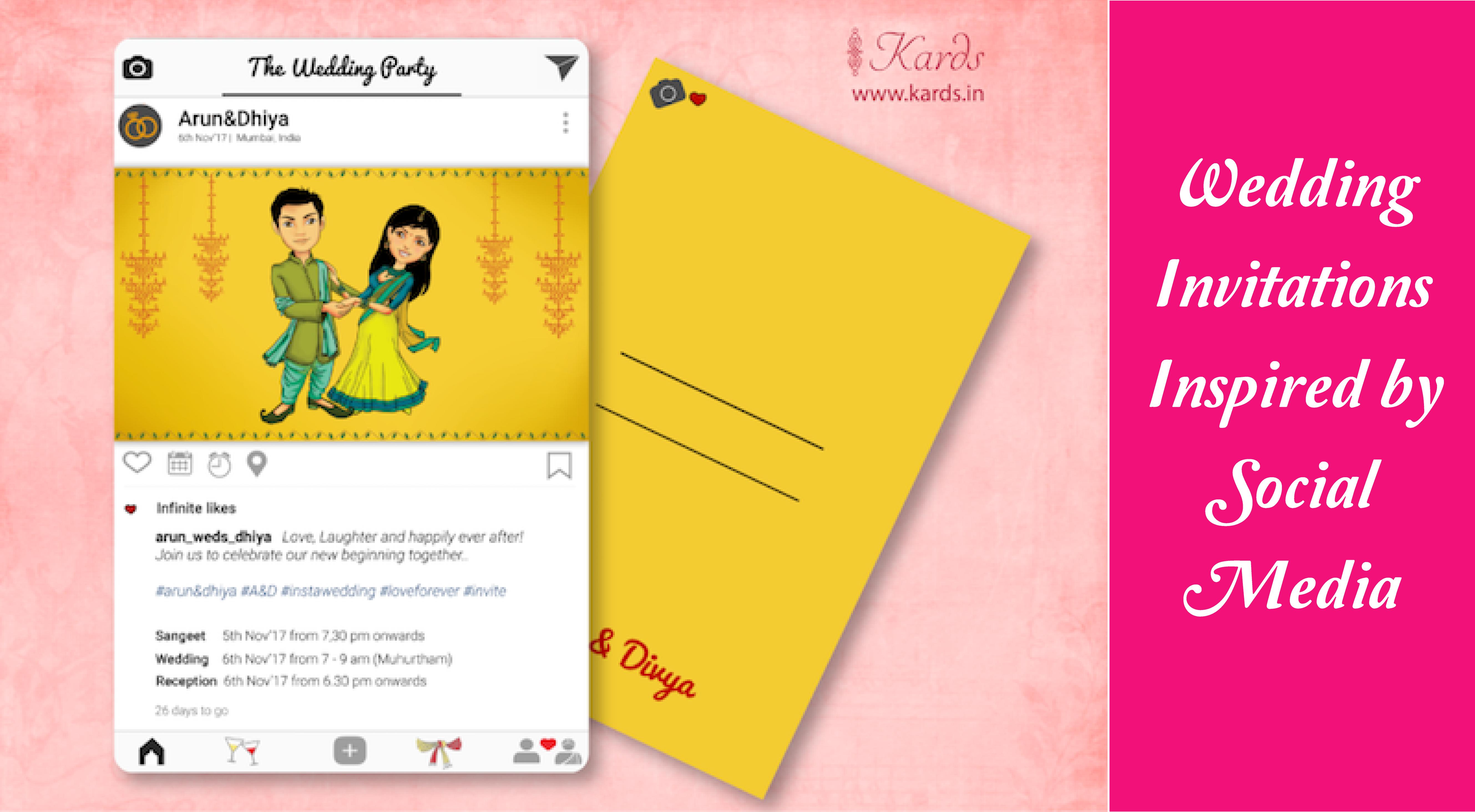 Wedding invitations Inspired by Social media  Wedding invitations