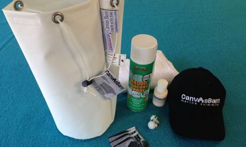 Care Kit by Canvas Barn Marine Trimming. everything you need to care for your boat cover