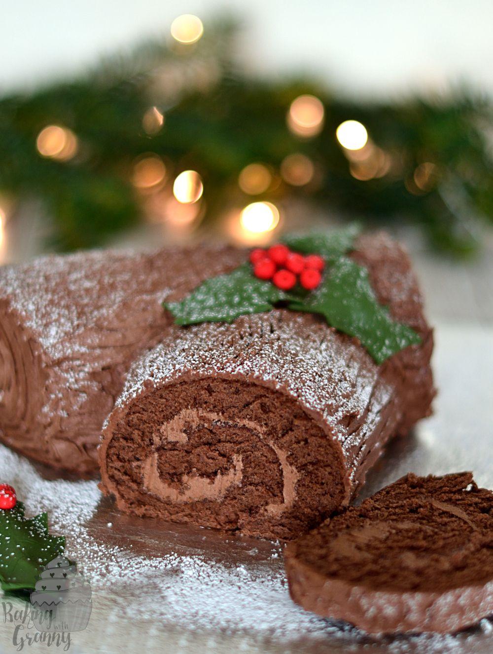 Yule Log | Recipe | Chocolate yule log recipe, Christmas log recipes, Yule log cake