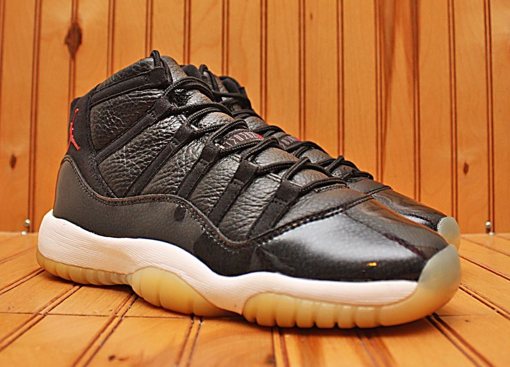quality design 92336 12b15 Nike Air Jordan XI 11 Retro 72-10 Size 6.5Y - Black Red White