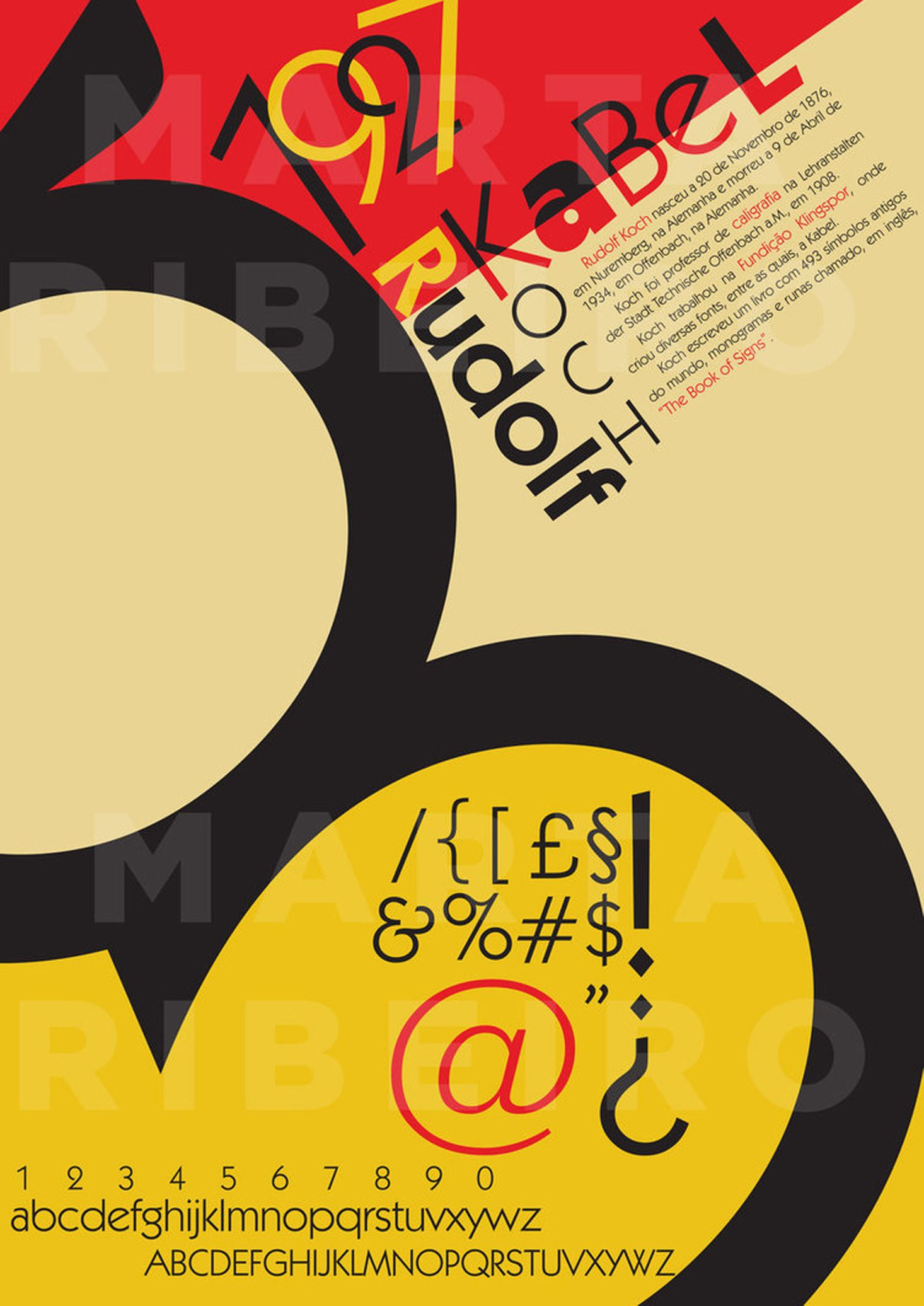 2 colour poster design - Kabel Type Poster Font By Rudolf Koch