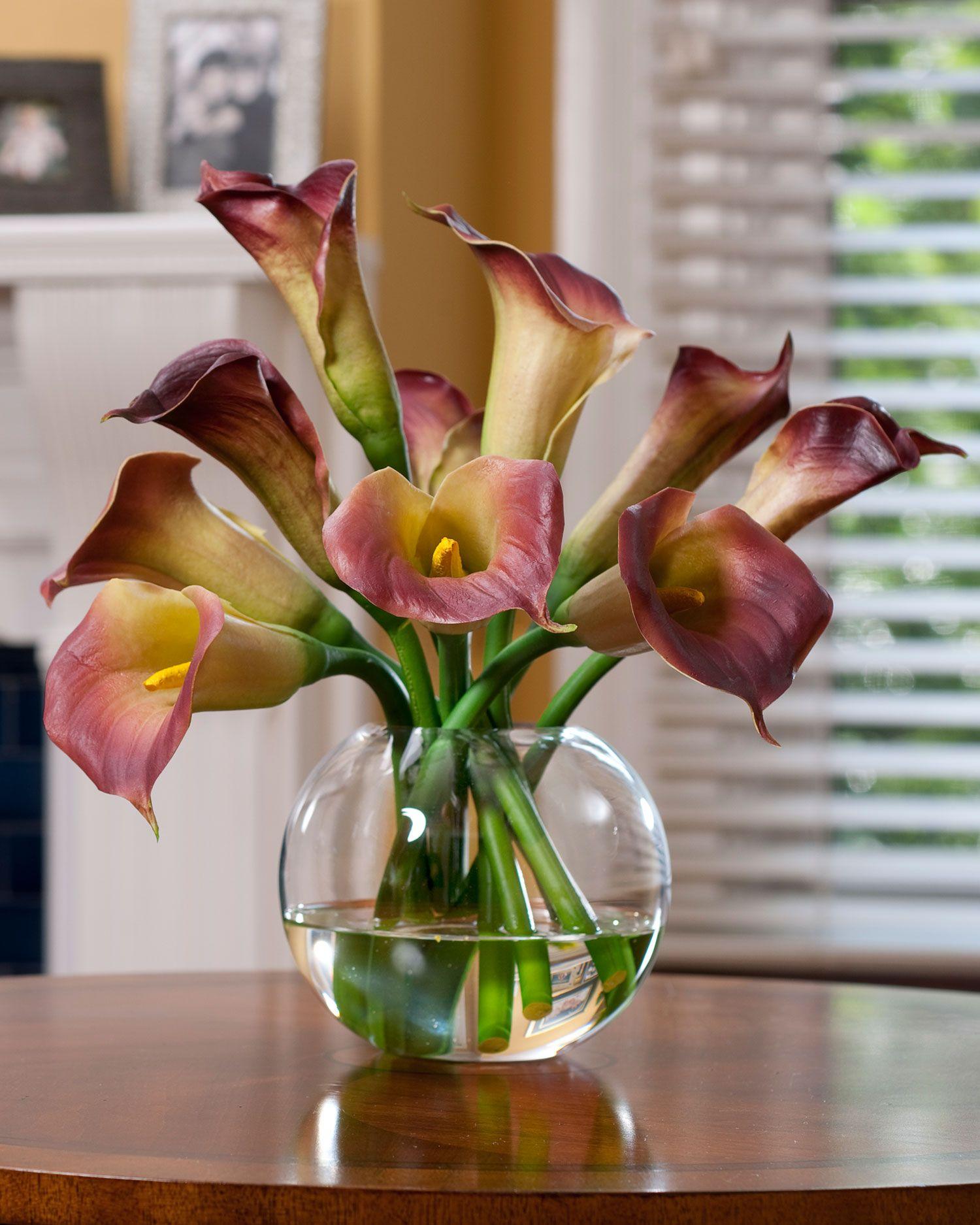 Calla Lily Silk Flower Centerpiece Dream House Pinterest