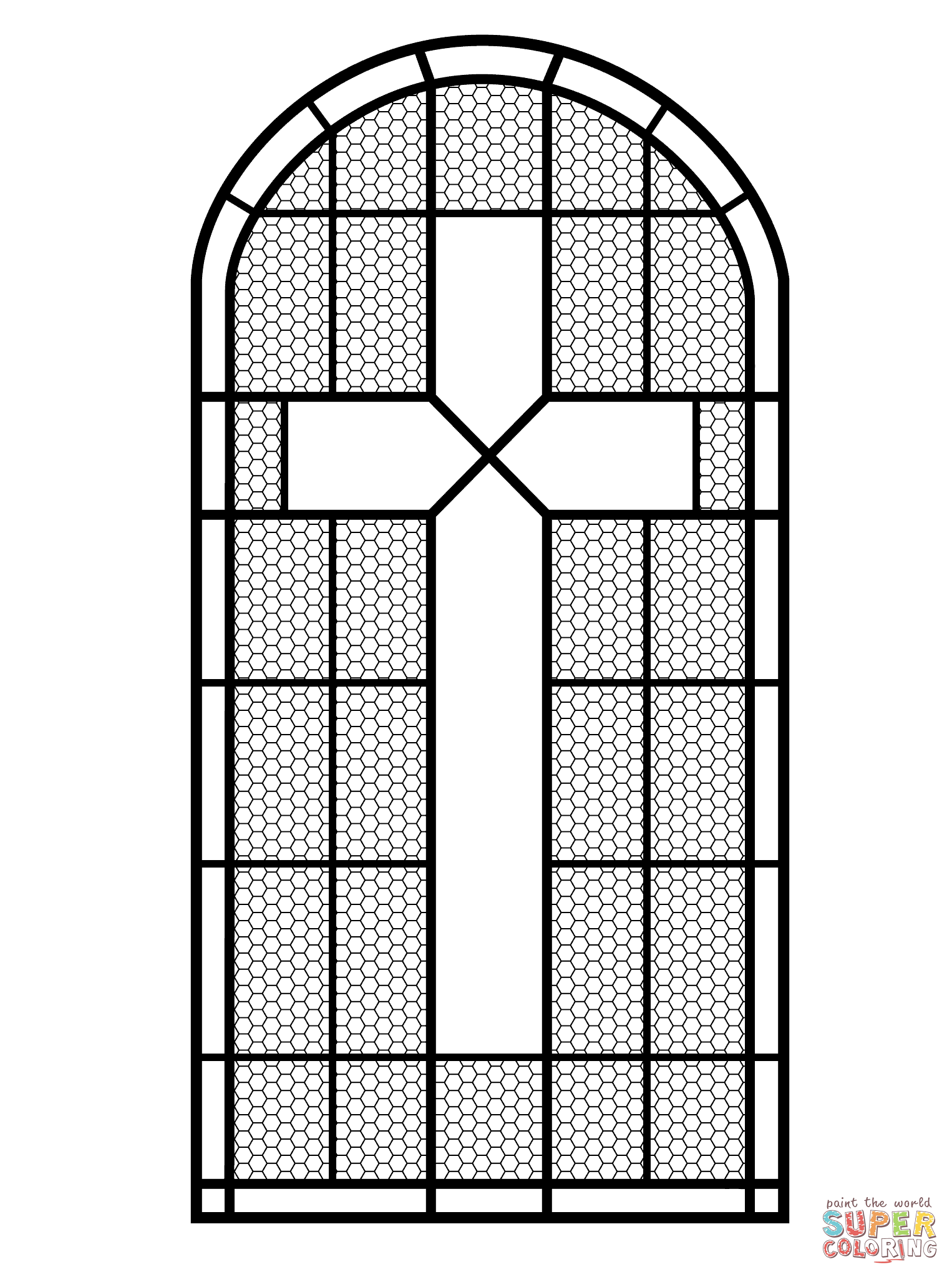 Cross Stained Glass Window Coloring Page From Stained Glass Category Select From 26977 Print Stain Glass Cross Stained Glass Patterns Free Stained Glass Quilt