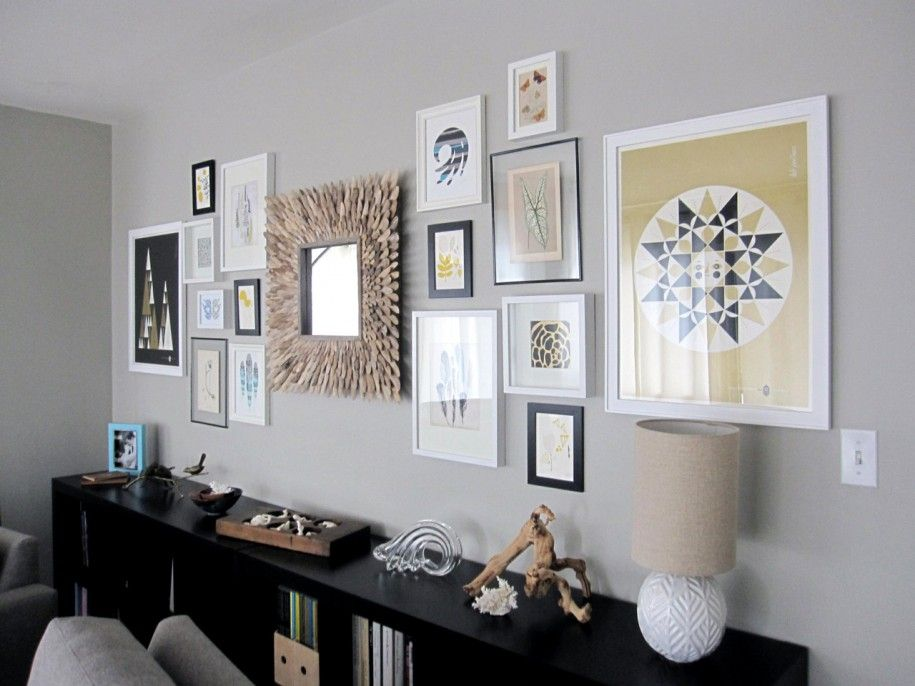 Beautiful wall picture collage ideas inspirations amazing - Mirror wall decoration ideas living room ...