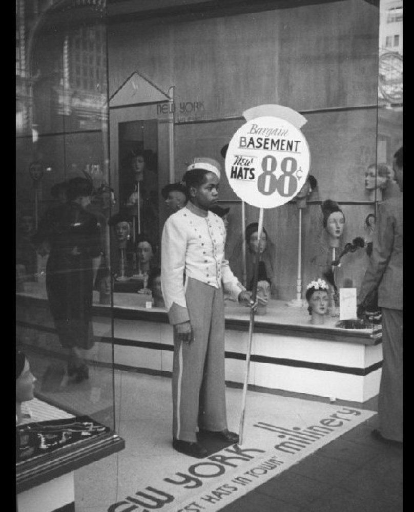 Vintage Sign Spinner Employee of the New York Millinery in
