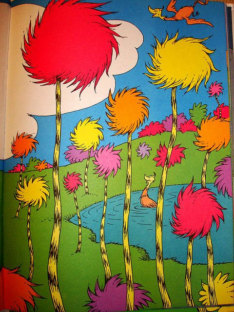 Truffula Tree Forest 2 Dr Seuss Art Seuss Crafts Truffula Trees