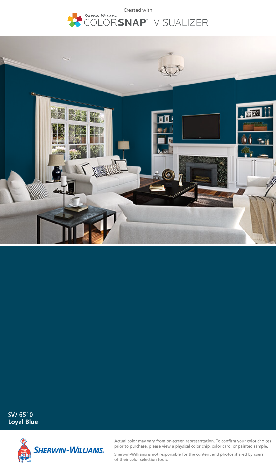 I Found This Color With Colorsnap Visualizer For Iphone By Sherwin Williams Loyal Blue Sw 6510