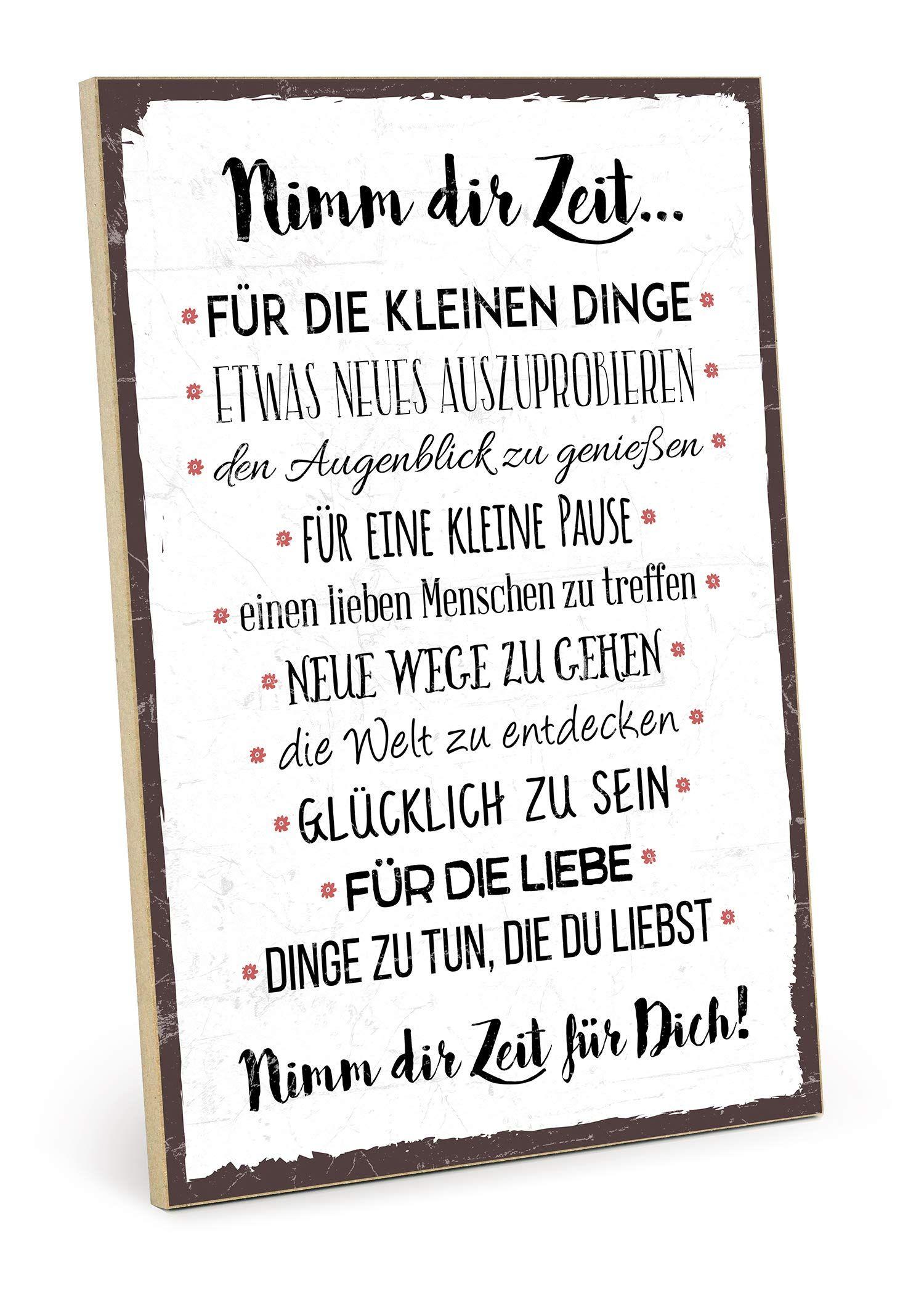 Typestoff Holzschild Mit Spruch Nimm Dir Zeit Im Vintage Look Mit Zitat Als Geschenk Und Dekoration In 2020 Zitate Liebe Hochzeit Walt Disney Zitate Disney Zitate