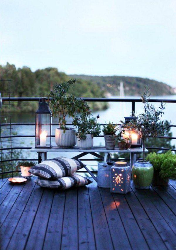 Clima Frio Descanso Confortable Diseño De Terraza Pequeña
