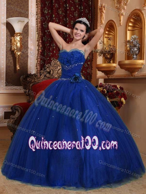 Low Price Ball Gown Beaded Royal Blue Sweet 15 Birthday Dress ...
