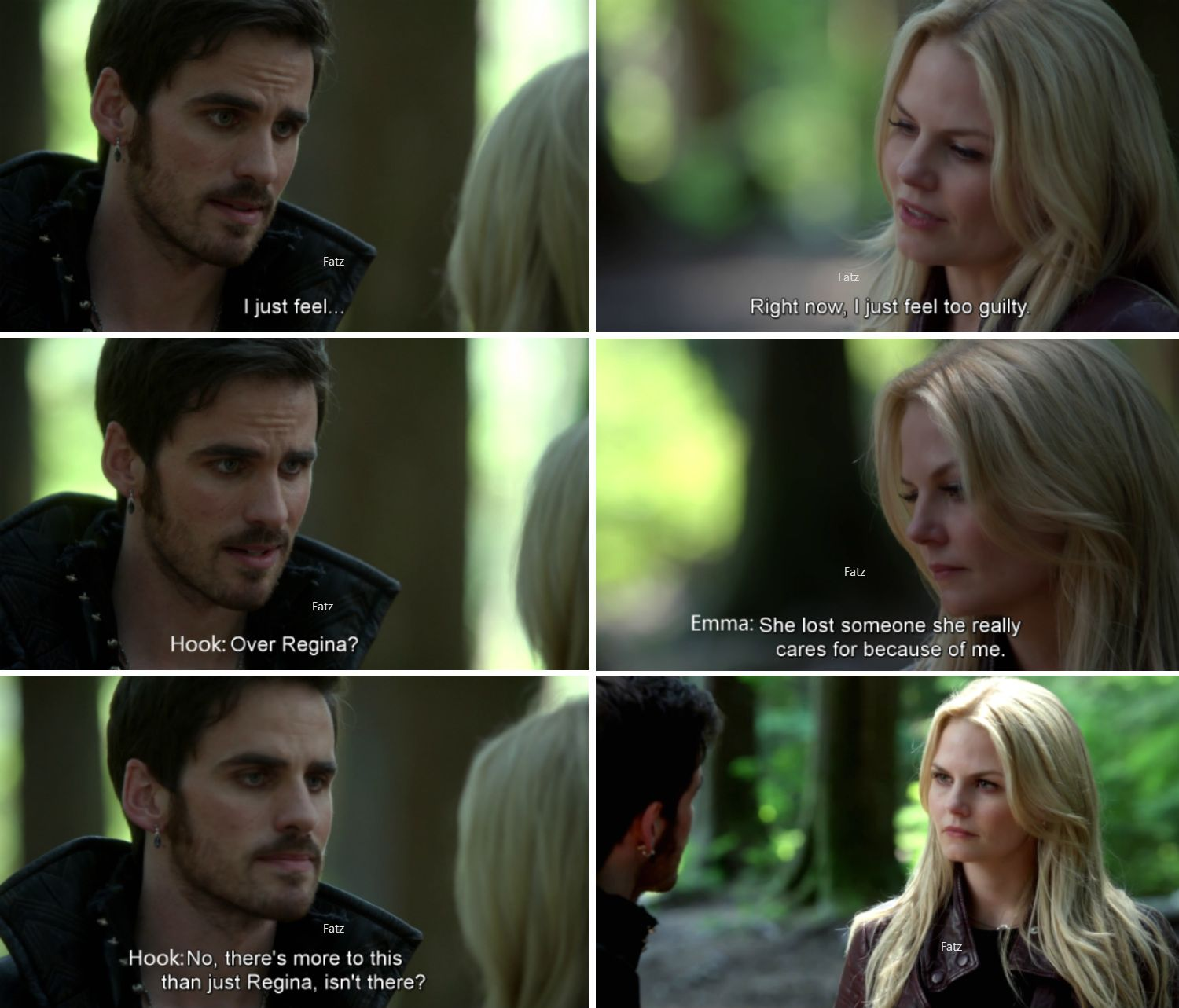 """No, there's more to this than just Regina, isn't there."" - Hook and Emma - 4 * 1 ""The Tale of two sisters"" #CaptainSwan"