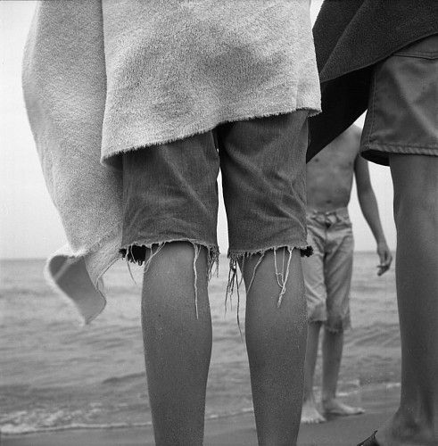 Vivian Maier, Untitled (Boys' Legs at Beach) ca. 1967