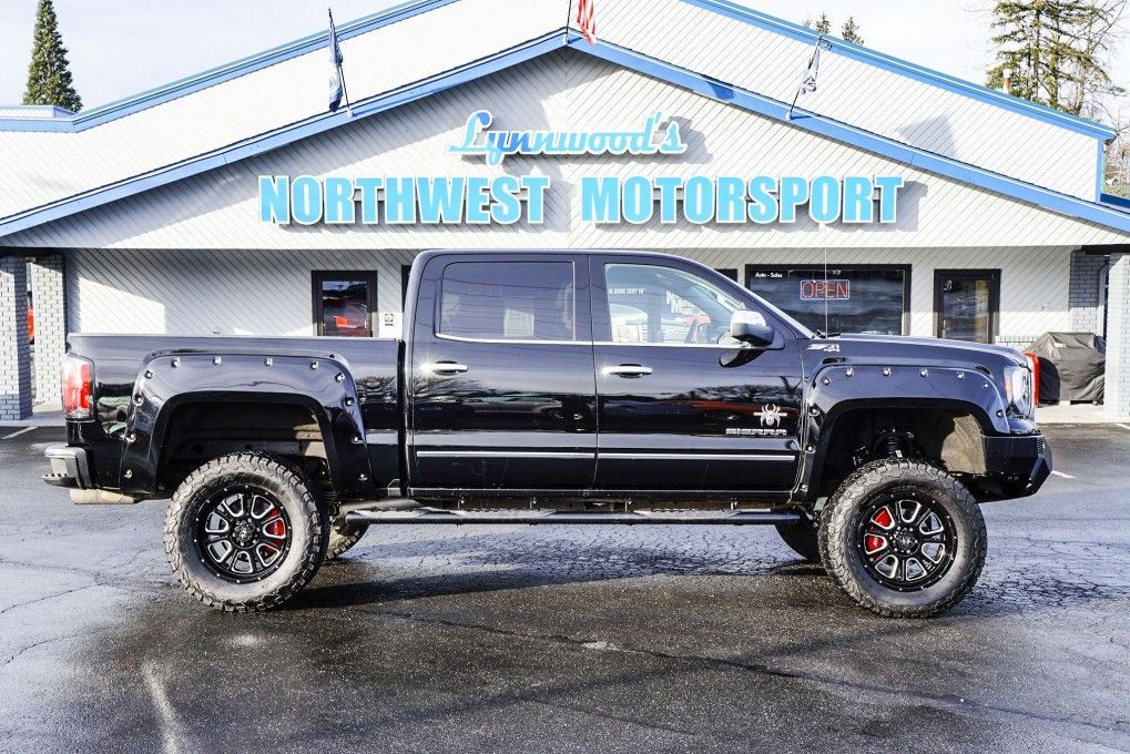 Lifted 2016 Gmc Sierra 1500 Black Widow Edition 4x4 Lifted