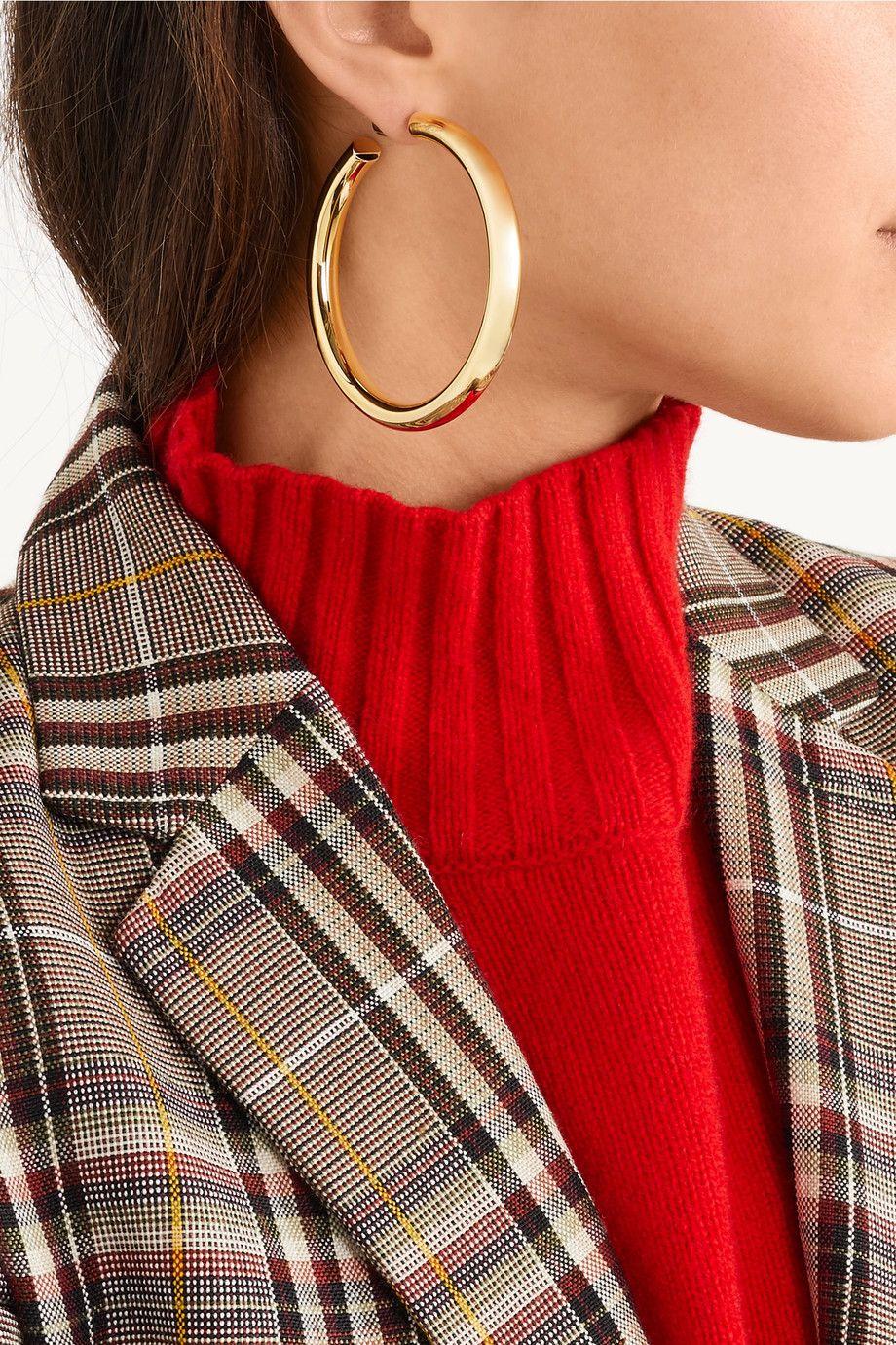 2993eaa33 Jennifer Fisher | Samira gold-plated hoop earrings | NET-A-PORTER.COM
