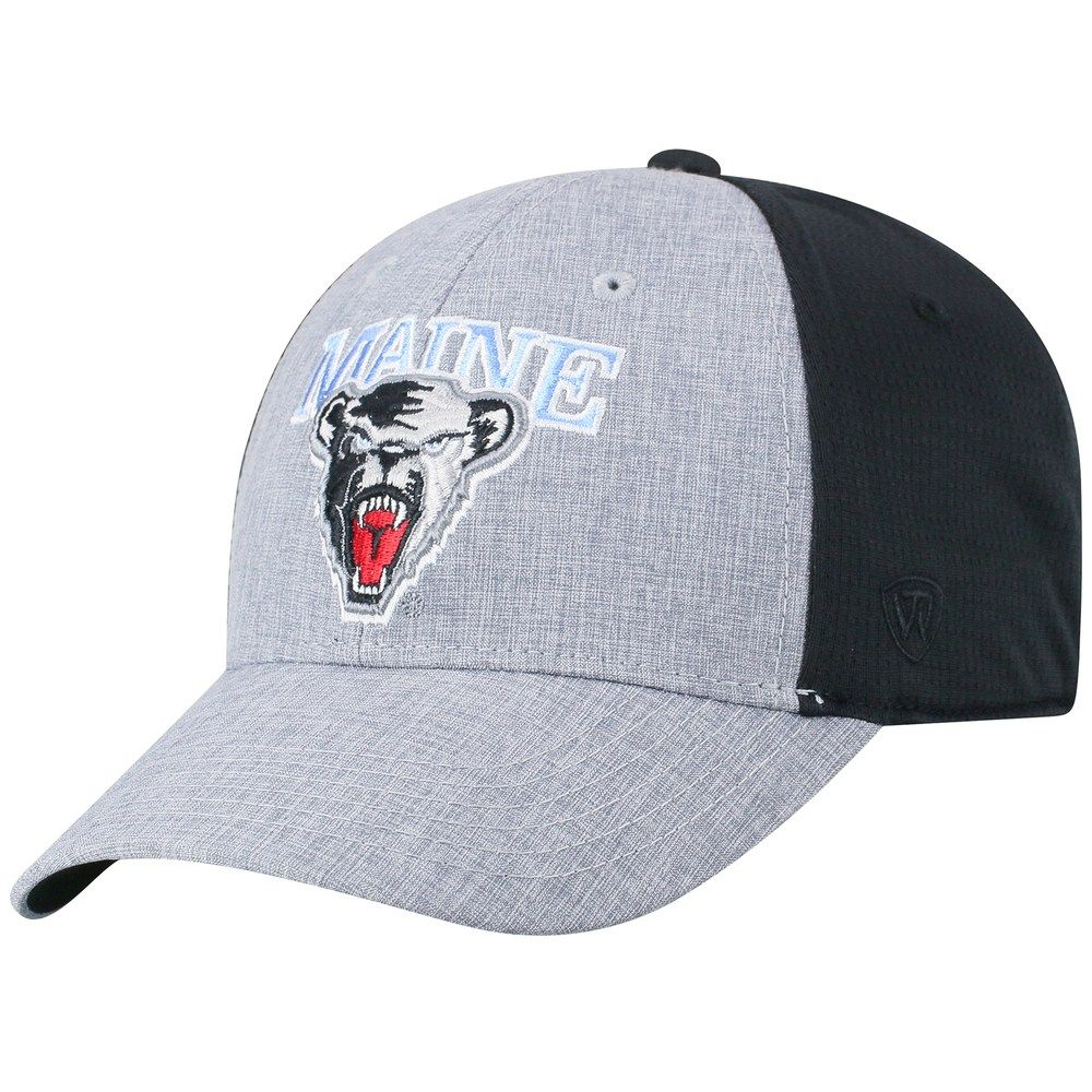 reputable site 48cf0 e05b8 Adult Top of the World Maine Black Bears Fabooia Memory-Fit Cap, Med Grey