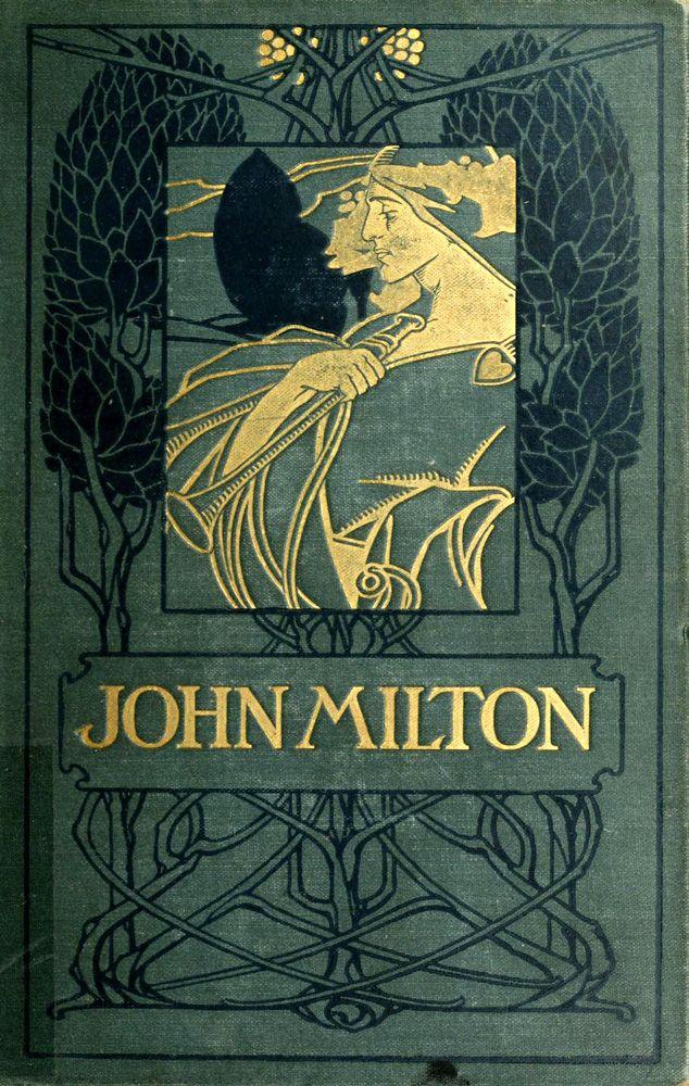 John Milton ;The Minor Poems 1898, Art Nouveau book cover